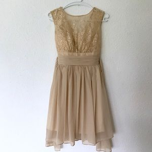 Dresses & Skirts - Taupe Formal Dress